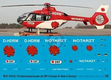 Peddinghaus 1/87 (HO) EC135 P2 Helicopter Markings D-HDRM DRF Christoph 44 3195