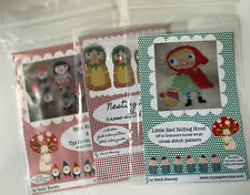 3 Cross Stich Patterns Red Riding Hood, Snow White And Nesting Dolls