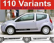 citroen c2 side stripe decals stickers choice of designs