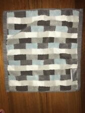 Blue & Gray Geometric Wash Cloth Face Towel Storehouse - EUC