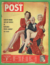 PICTURE   POST  MAGAZINE 15th August 1953 - MARILYN MONROE COVER & ARTICLE