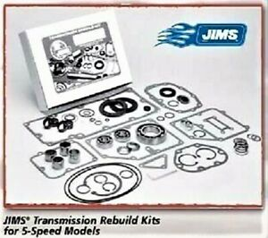 JIMS 5-SPEED TRANSMISSION REBUILD KIT HARLEY SOFTAIL TOURING FXR FXRS L1984-1990