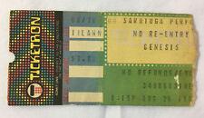 1982 GENESIS Ticket Stub