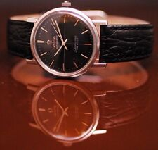 """Omega Seamaster Deville """"Monocoque"""" 31.5 mm Case Black Dial Very Clean Serviced"""