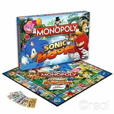 New Sonic The Hedgehog Sonic Boom Monopoly Family Board Game Hasbro Official