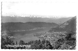 AK, Bodensdorf-Ossiach, Kärnten, Gesamtansicht mit Julische Alpen, 1965