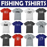 Fishing Tshirt Mens Funny Fish t shirt Angling Carp Fathers Day Gift Present Dad
