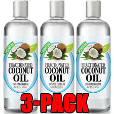 Fractionated Coconut Oil - 100% Pure Carrier Therapeutic Grade Oil 16oz [3 pack]