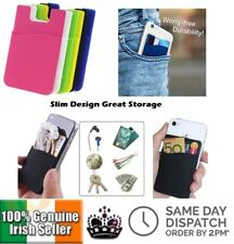 Phone Pocket Sticker Adhesive Silicone Pouch Money Card Keys Wallet Staff Ticket