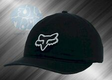 New Fox Racing Carry Over Black Gray Adjustable Hat Cap