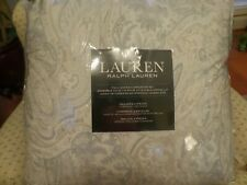 RALPH LAUREN BLENDON PAISLEY FLORAL QUEEN COMFORTER SET GRAY AND TANS