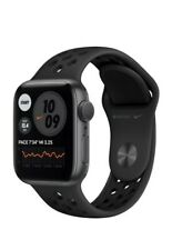 NEW Apple Watch Nike Series 6 GPS 40mm Space Gray Aluminum Case Black Sport Band