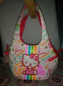 Girl's Hello Kitty Sanrio Purse Peace sign Love Happy Pink KITTY