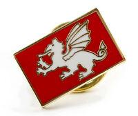 WHITE DRAGON ENGLAND BADGE - Anglo-Saxon, Enamel Lapel Badge