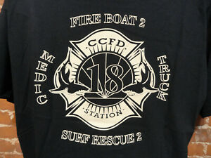 FIRE STATION 18 MEDIC 18 Surf Rescue 2 SHARKS~CCFD~FIRE RESCUE 3Xl~Different