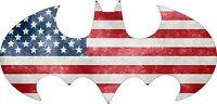 Batman 1998 - US Flag - Vinyl Sticker Decal - Full Color CAD Cut Car logo