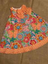 Counting Daisies sleeveless orange butterfly print a-line dress size 5