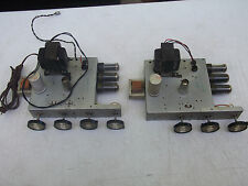 PHILCO 1710 TUBE AMPLIFIERS PAIR P/P 6V6 12AX7 AS-IS W/SCHEMATIC