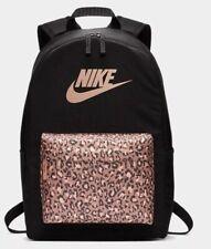 Women/Youth Girls Nike Heritage 25 L Backpack Dual Zippered Laptop Sleeves Black