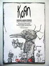 PUBLICITE-ADVERTISING :  KORN  2007 pour la sortie nouvel album