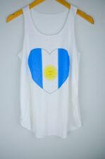 Copa Mundial de fútbol Argentina Bandera Camiseta sin mangas para Mujer Chica Camiseta sin mangas