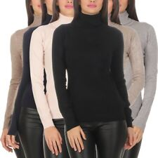 10974 Damen Feinstrick-Pullover Pulli Rollkragen Pullover Strickpullover