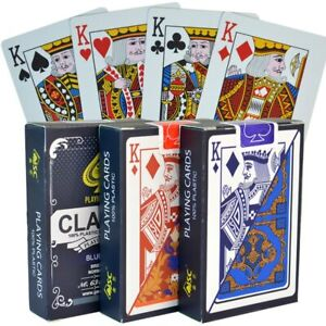 1Pack PVC Playing Cards Waterproof Collection Poker Texas Blackjack Board Game