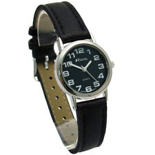 Ravel Ladies Super-Clear Easy Read Quartz Watch Black Face R0105.07.2A