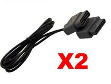 2 x SNES Extension Cable Super NES controller extension cable