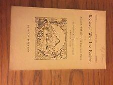 Roosevelt Wildlife Bulletin, Howard Dean, Adirondacks, March 1925, Vol 3, No 2