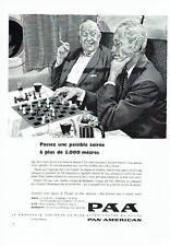 PUBLICITE ADVERTISING 126  1957  PAA  compagnie aérienne  Pan Am