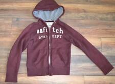 Abercrombie Hoodie Kids Size Large Maroon Sweatshirt Full Zip