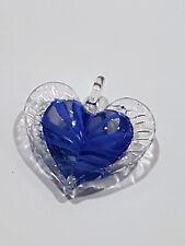 Süßer Lampwork Glas Herz Kettenanhänger mit Rosenquarz Kugel