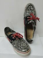 Women's Sperry Top Sider Size 8 M Biscayne Floral Deck Boat Shoes