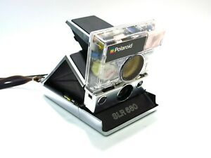 Beautiful Refurbished Polaroid 680 Camera w/ Custom Transparent Shutter Housing