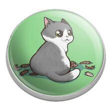Kawaii Cute Cat with Bird Feathers Golfing Premium Metal Golf Ball Marker