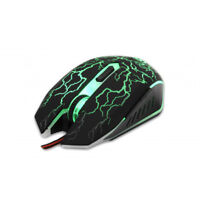 PC Maus Mouse USB Gaming Scorpio 2 2400 DPI Kabel 6 Tasten LED Licht 4 Farben