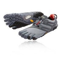 Vibram FiveFingers V-Trail Mens Grey Black Running Sports Shoes Trainers Pumps