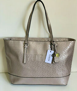NEW GUESS MARCIANO PEAK COLLECTION ROSE DUST SATCHEL SHOPPER TOTE BAG PURSE SALE