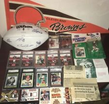 Cleveland Browns Signed Auto Football Rookie Cards Pennant Lot Newsome Groza