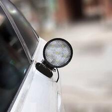 Magnetic LED Work Light Round Beam Lamp 27W Truck Offroad 12V /24V Spotlight SUV