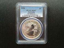 1990 Australia Silver 1oz $5 Dollar Coin - PCGS MS67 - SUPERB GEM UNC