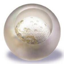 Glass Eye Studio Celestial Moon Art Glass Paperweight with box- made in USA