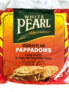 Madras Plain Indian Papad, Poppadoms, Papadums 200g