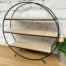 Wire Metal Wood Round Locker Room Freestanding Storage Display Shelf Unit Rack