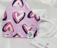 Vera Bradley Face Mask Hearts Iced Pink Valentine's Day RARE