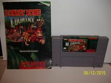 RARE! SUPER NINTENDO DONKEY KONG COUNTRY w/ instructions BUY IT NOW PRICE