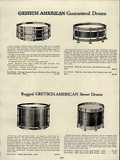 1937 PAPER AD Gretsch American Drums Steel Trap Outfit The Artist