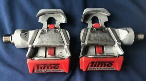 RARE VINTAGE TIME TITANIUM MAGNESIUM CLIPLESS ROAD RACING BIKE PEDALS