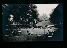 Somerset BATH Lansdowne Grove Hotel  tea on lawn advert c1910/20s? RP PPC
